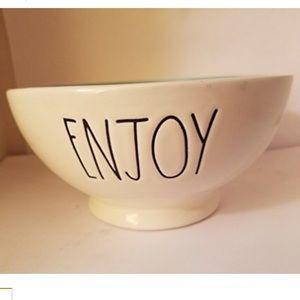 Rae Dunn Ceramic Bowl. Enjoy. New.